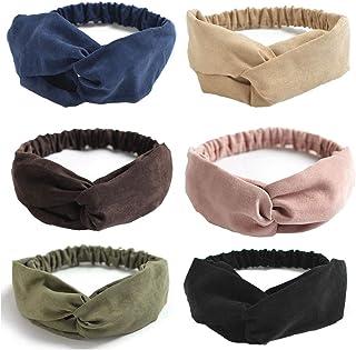 Catery Boho Headbands Stylish Criss Cross Headband Headpiecce Vintage Sport Yoga Running Head Wrap Hair Band Velvet Elasti...
