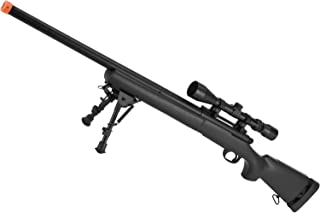Evike - CYMA Advanced M24 Military Airsoft Bolt Action US Army Scout Sniper Rifle (Fluted/Standard and Color Options)