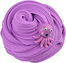 Unionm Slime Toys, 100ml Octopus Drawing Cloud Putty Sludge Crystal Clay Toy Plasticine Soft and Non-Sticky Scented DIY Gifts for Kids Girls Boys Stress Anxiety Relief (Purple)
