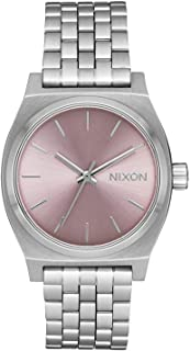 Ladies' Nixon Medium Time Teller Lavender Dial Stainless Steel Bracelet A11302878