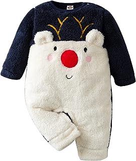 طفل رضيع الفتيات الفتيان طويلة الأكمام زي رومبير الرضع الشتاء الدافئة الصوف بذلة أبلى (Color : NY, Size : 73)