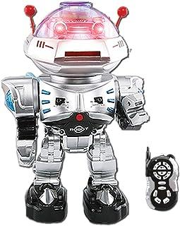 YARMOSHI リモコン スマート ロボット おもちゃ 歩く 話す ダンス 歌う ライト 点滅 音量調節 USB充電式 男の子 女の子 喜ぶ プレゼント [対象年齢:5歳以上]