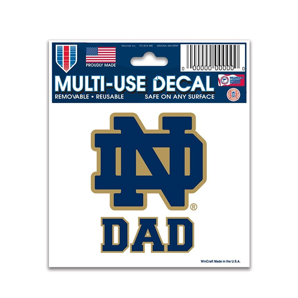 WinCraft NCAA Notre Dame 77749011 Multi-Use Decal, 3