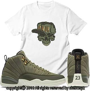 3493218b1415d3 Custom T Shirt Matching Air Jordan 12 CP3 Olive Canvas Class of 2003 JD 12-