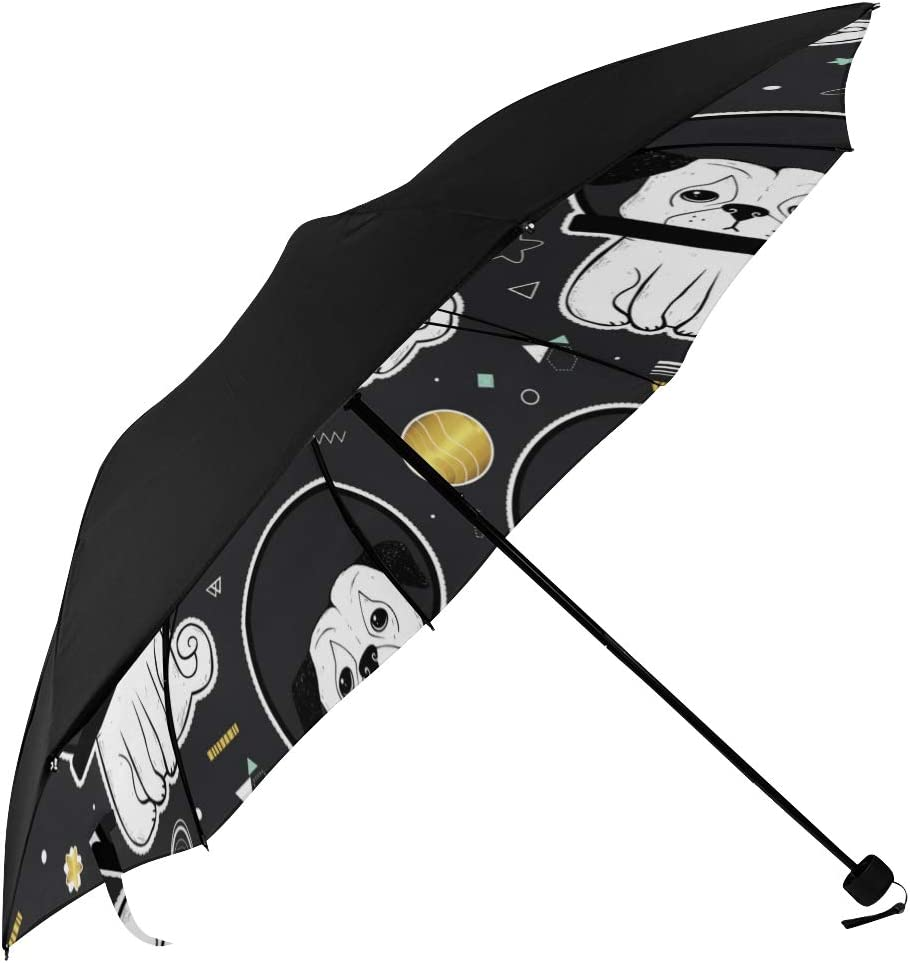 Umbrella Lightweight Space Astronaut Puppy Underside Dog Printin Max 48% OFF New products world's highest quality popular