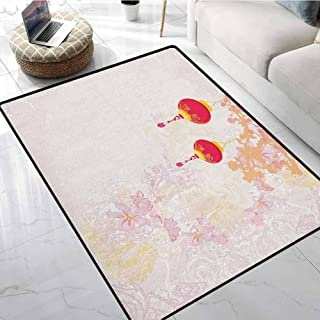Lantern Area Rugs for Sale 3x4 ft Abstract Image Depicting Chinese New Year Old Paper Celebration Lively Colors Modern Contemporary Area Rug