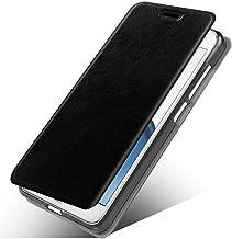 Motorola Moto X4 Case, MicroP Slim Folio / Flip Pu Leather With Stand TPU Bumper Back Phone Case Cover For Motorola Moto X4 / Moto X (2017) / moto X 4 (Black Leather Case Z)