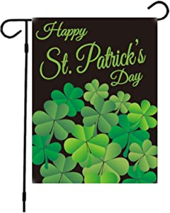 Valentine's Day and St. Patrick's Day Flag,Double Sided Valentine's St. Patrick's Day Heart Garden Flag 12 x 18'' Printing Valentine House Flags for Party Decoration (St. Patrick's Day2)