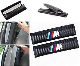 Wall Stickz car Sales 2 Pcs Car Seat Belts Covers Padding Carbon Fiber Leather Belt Shoulder Sleeve (fit BMW-m)