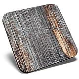 Posavasos cuadrados con efecto de madera de color gris ceniza, calidad brillante, protección de mesa para cualquier tipo de mesa #44155