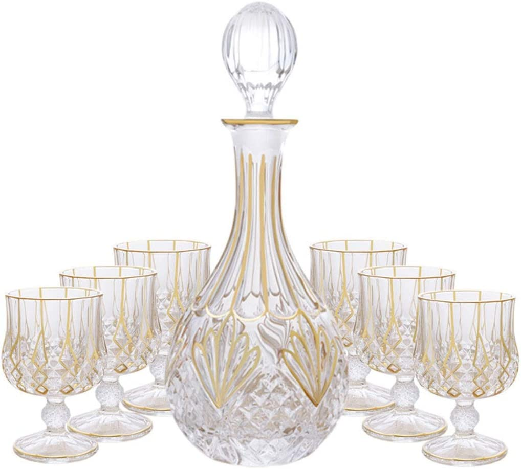 LHHL Whisky Max 73% OFF Decanter Our shop OFFers the best service 750ml And Set Ultra Of 230ml Glasses Clar 6