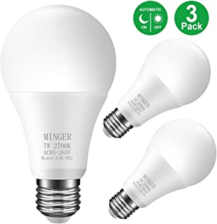 Sensor Light Bulbs Dusk to Dawn Light Bulb, Govee 7W Smart Automatic LED Bulbs with Auto on/off, Indoor / Outdoor Lighting Lamp for Porch, Hallway, Patio, Garage (E26/E27, Soft White, 3 Pack)
