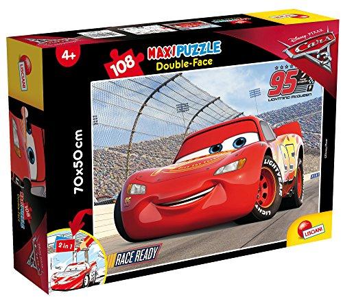 Lisciani Giochi- Disney Puzzle DF Supermaxi 108 Cars 3 Fast Friends, 60603.0