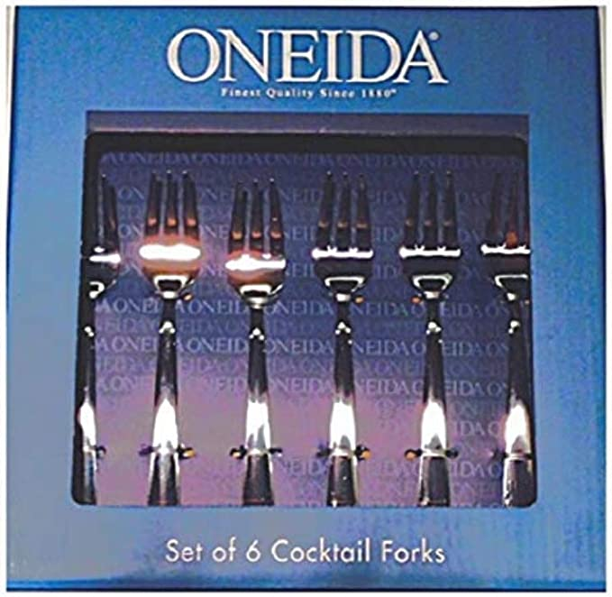 Amazon Com Oneida Set Of 6 Cocktail Utensils Cocktail Forks Kitchen Dining