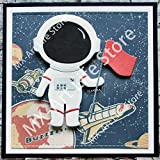 VIGOAT Astronauts Metal Cutting Dies Boy and Girl Stencil forScrapbooking Decorative Embossing Dies
