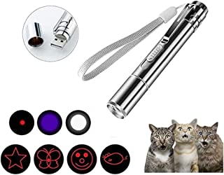 USB Rechargeable,4 in 1 Function Cat Laser Pointer,Interactive Chase Light Toy for Cats