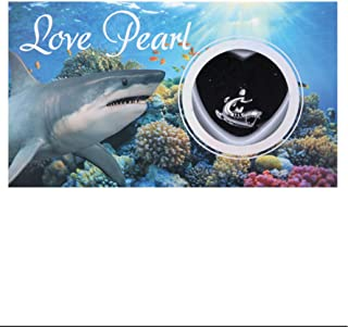 Shark Necklace Love Pearl Gifts Wish Pearl Necklace with Genuine Pearl Inside Pack of One
