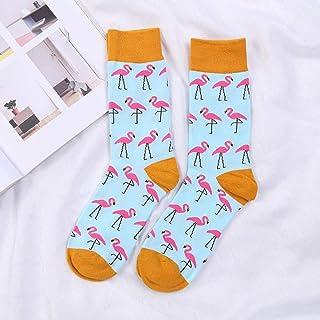 Calcetines De Algodón De Cuello Redondo De Moda para Hombre Calcetines De Marea Callejera Calcetines Divertidos Felices 1 Paquete De 3 Pares