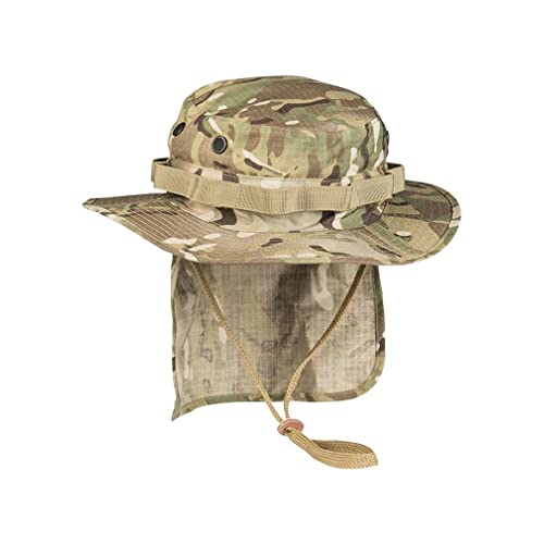 8051fc9c4b71bd British Army Style Coyote Jungle Boonie Bucket Hat With Neck Flap