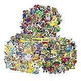 GTOTd Anime Videospiel Aufkleber(Beinhaltet Mario, Zelda, Pokemon Insgesamt 100 Stück gemischte Aufkleber) Merch Anime Geburtstagsfeier Zubehör für Wasserflasche Laptops, Skateboards...