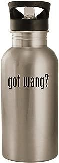 got wang? - Stainless Steel 20oz Road Ready Water Bottle, Silver