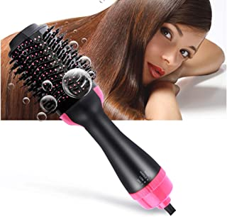 Bergwin Hot Air Brush, One Step Hair Dryer & Voluminous, Hot Air Brush 3-in-1 Negative Ions Styling Hair Dryer Brush, Curler and Straightener, Styler Brush Reduce Frizz and Static For All Hair Types