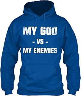 My god vs My Enemies Sweatshirt - Gildan 8oz Heavy Blend Hoodie