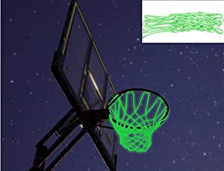 Captank Basketball Net Hoop Glow in The Dark Light Glowing Basketball Hoop Replacement Net All Weather Thick Standard Size Heavy Duty Indoor Outdoor Sports