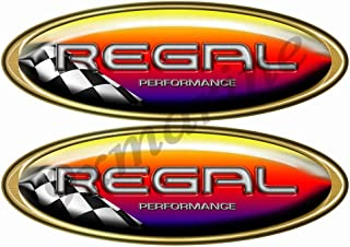 Two Regal Boat Oval Racing Decal/Sticker Set