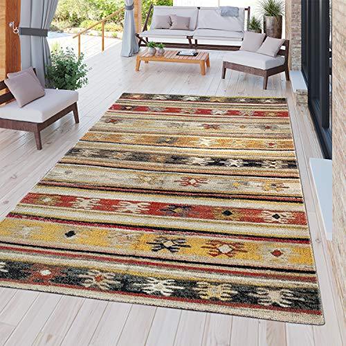 TT Home Moderner Outdoor Teppich Wetterfest für Innen & Außenbereich Nomaden Design In Multifarben, Größe:240x340 cm