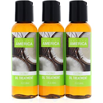 Beauty America Coconut Oil Hair Treatment, 3 pack