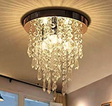 Ganeed Mini Crystal Chandelier,Modern Crystal Flush Mount Ceiling Light Lamp,3 Lights Chandelier Lighting Fixture for Aisl...