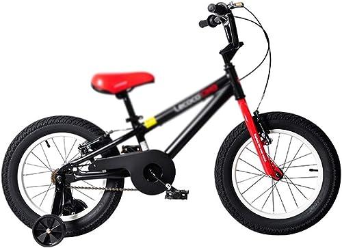 LPYMX Bicicleta para Niños Bicicletas para Niños Todoterreno Bicicleta de Montaña Color negro, 16 Pulgadas Bicicleta