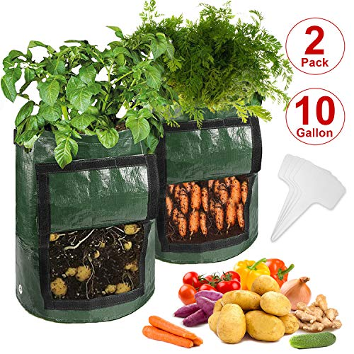 CicoYinG 2-Pack 10 Gallon Potato Grow Bags $12.98 (32% Off)
