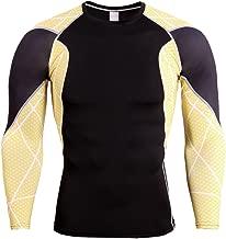 YiJee Herren Sport T-Shirts Lange Ärmel Fitness Kompressionsshirt Funktionswäsche Base Layer