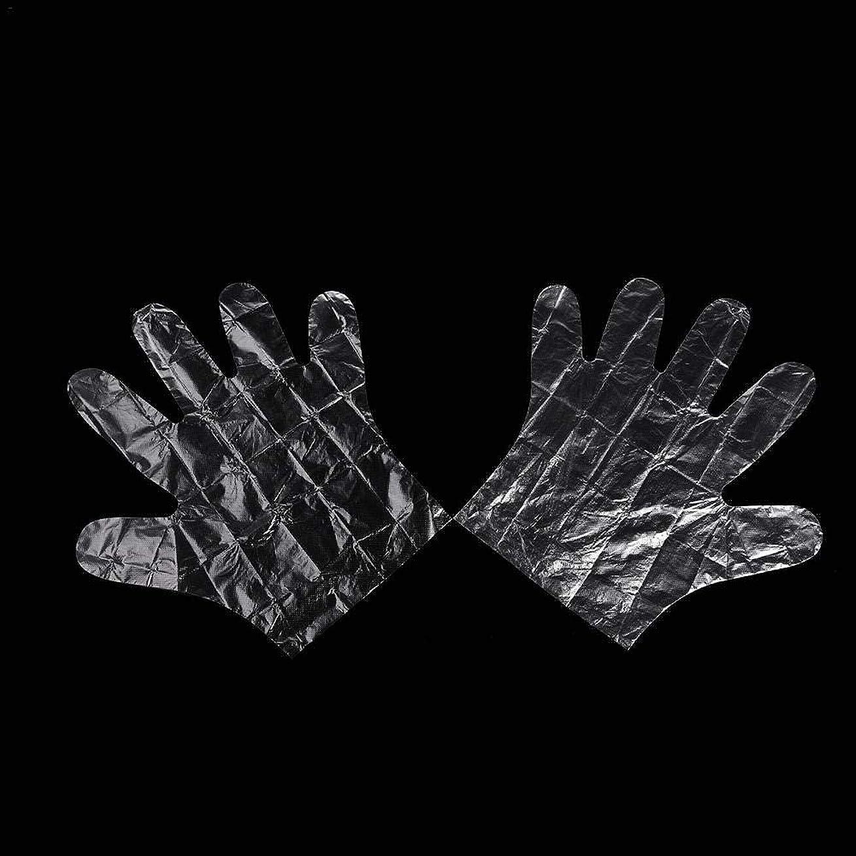 窒素雑多な郡colmall 使い捨て手袋 子供用 極薄ビニール手袋 ポリエチレン 透明 実用 衛生 100枚/200m枚セット 左右兼用 on