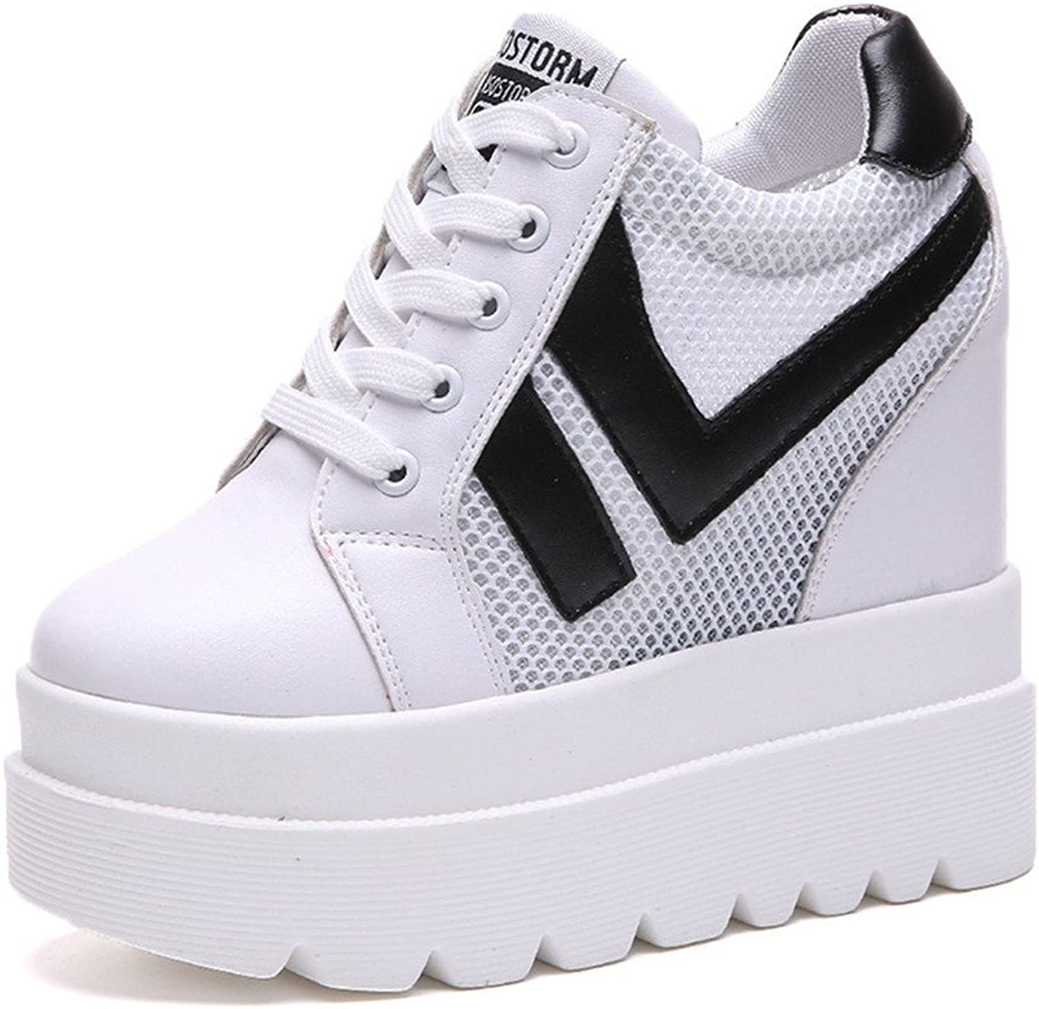 Believed Canvas shoes Woman Height Increasing Casual shoes Wedge Platform shoes Sneakers shoes