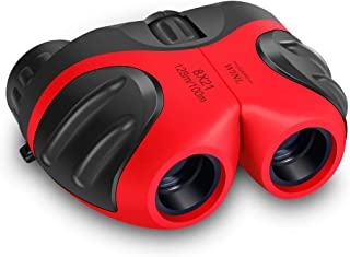 Best Gifts for Teen Girl, Happy Gift Compact Watreproof & Shock Proof Binocular Binocular for Kids Toys for 3-12 Year Old Girls to Watching Wildlife or Outdoor Play(Red)