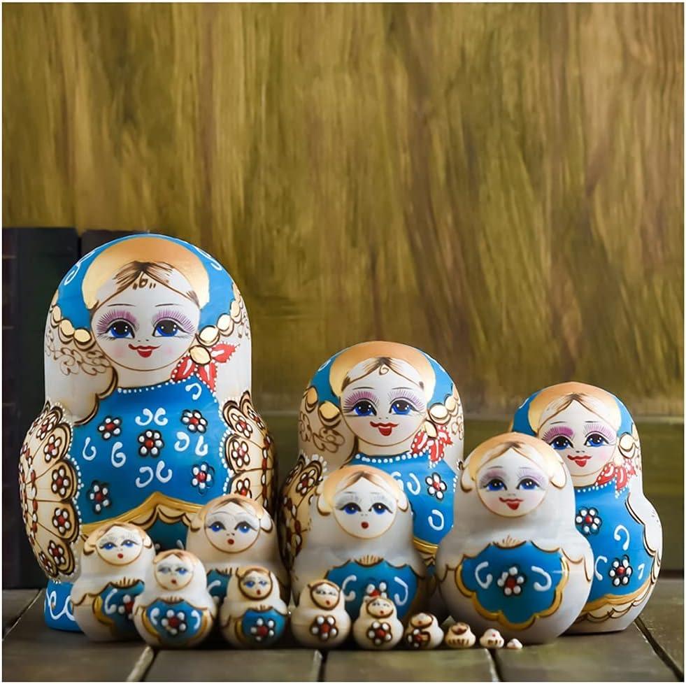 ZANZAN Mail order cheap Matryoshka Set Little Girl Outlet ☆ Free Shipping Handmade Wooden Russia Pattern