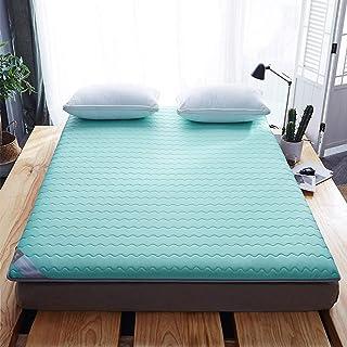 Colchón de tatami, colchón plegable, antideslizante, portátil y cómodo para futón para estudiantes, sala de estar, dormitorio, grosor de 6 cm,A,90 * 200cm/35 * 79 inch
