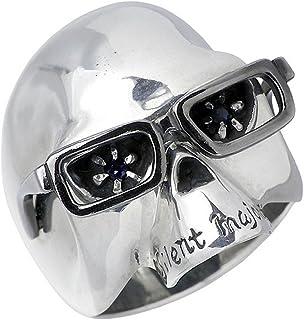 HOLLOOW ホロウ ヴィンセント シルバー リング サファイア スカル ドクロ 髑髏 17号 指輪 KHR-09-17...