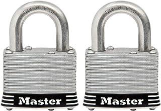 Master Lock 5SST Stainless Steel Outdoor Padlock with Key, 2 Pack Keyed-Alike