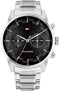 Tommy Hilfiger Stainless Steel Band Analog Watch for Men - Silver