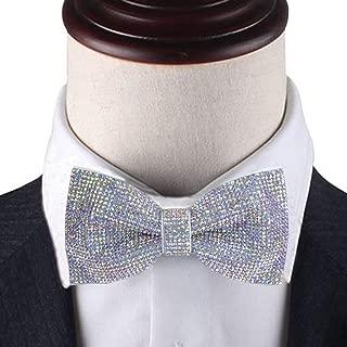 Rainbow rhinestones pre-tied bow tie, rainbow color bow tie, colorful bow tie, Dream Up Idea