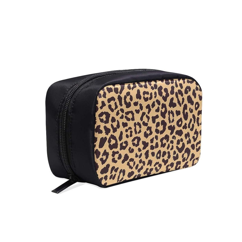 規則性粒子グローXHQZJ メイクポーチ 魅力的なヒョウ柄 ボックス コスメ収納 化粧品収納ケース 大容量 収納 化粧品入れ 化粧バッグ 旅行用 メイクブラシバッグ 化粧箱 持ち運び便利 プロ用