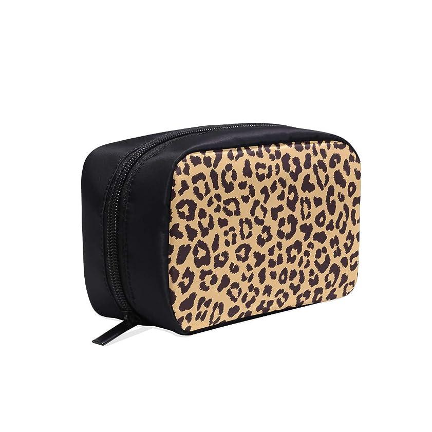 口径許可するリーXHQZJ メイクポーチ 魅力的なヒョウ柄 ボックス コスメ収納 化粧品収納ケース 大容量 収納 化粧品入れ 化粧バッグ 旅行用 メイクブラシバッグ 化粧箱 持ち運び便利 プロ用