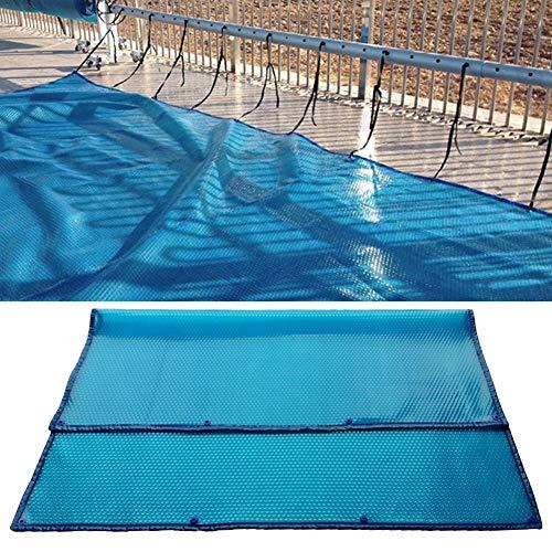 Kitabetty Schwimmbadabdeckung, Pool-Isolierfolie Whirlpoolabdeckung mit perforiertem Rand, wasserdicht und staubdicht, 100 × 100 cm / 100 × 200 cm, blau