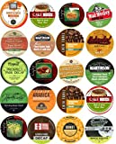20 Cup Super DECAF Coffee & TEA Sampler! 20 Different Flavored & Regular DECAF Only Coffee & TEA Single Serve Cups! All decaffeinated!