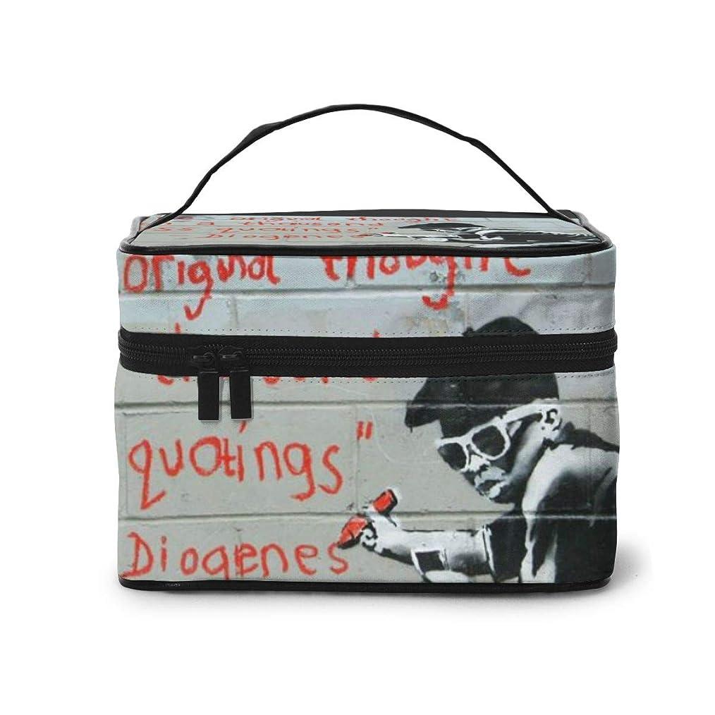 不名誉不規則な拒絶メイクポーチ 化粧ポーチ コスメバッグ バニティケース トラベルポーチ Banksy バンクシー 雑貨 小物入れ 出張用 超軽量 機能的 大容量 収納ボックス