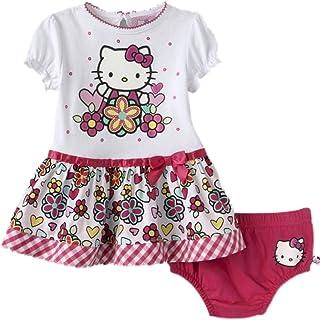 397ede60cf0 Hello Kitty Robe d été pour bébé fille + sous-vêtement Rose blanc